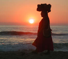 Puerto Escondido sunset lady